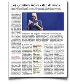 Hablando sobre directivos indios, en El País