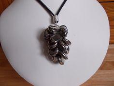 Metallic coated agate tassle necklace £7.50