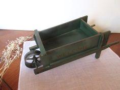 Decorative Wood Wheelbarrow Planter Flower Wagon by Mydaisy2000