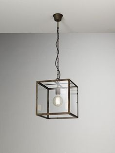 """""""London""""  by Il Fanale. Indoor suspension lamps, ceiling lamps and appliques made of iron and glass"""