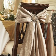 Chair Ties and Crystal Tieback Buckle