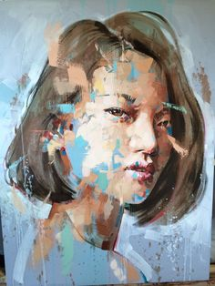 Jimmy Law, 1970   Abstract portrait painter   Tutt'Art@ Abstract Face Art, Abstract Portrait, Portrait Art, Creative Portraits, Creative Art, Jimmy Law, A Level Art Sketchbook, Artist Painting, Contemporary Paintings