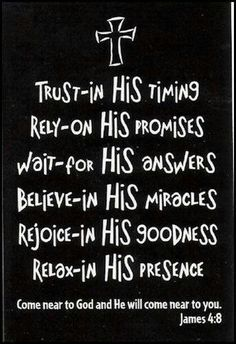 """God will always be on time for all of his promises, answers, miracles, goodness, and when he comes again we need to be ready and prepared for Him. We probably won't recognize Him like the disciples did so the next time you treat someone meanly think """"What if that was Jesus?"""""""