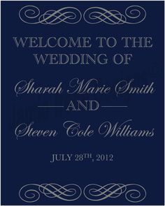 Custom Designed Wedding Welcome Sign by WeddingsByJamie on Etsy, $15.00