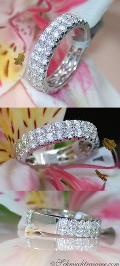 Two-rowed Diamond Eternity Ring, 2.01 ct. G-SI, WG14K - Visit: schmucktraeume.com