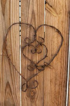 Barbed wire, Wire and Heart wreath on Pinterest