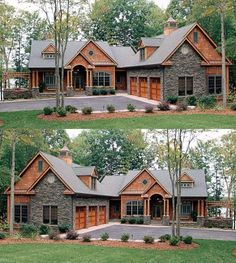 Are you searching for inspiration for modern farmhouse? Check out the post right here for unique modern farmhouse pictures. This unique modern farmhouse ideas looks entirely fantastic. Dream House Exterior, Exterior House Colors, Exterior Siding, Wood Siding, Siding Colors, Stone Siding, Stone Exterior, Craftsman Exterior, Exterior Remodel
