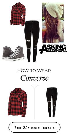 """tagged"" by nat-nat123 on Polyvore featuring River Island and Converse"