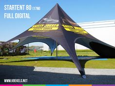 Leuk project voor Safety Jogger : Full digital bedrukte #startent 80 (17m) #krekels #thearttoattractpeople #safetyjogger #canopy #tent #starshade