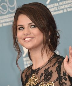 Selena Gomez Wedding Hairstyle - Updo Long Curly Casual -