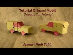 Mobil Origami, Origami Car, Cute Origami, Origami Videos, Kids Origami, Paper Crafts Origami, Oragami, Paper Machine, Paper Car