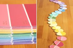 easter egg paint chip garland