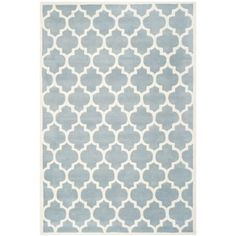 Safavieh Handmade Moroccan Chatham Blue Wool Rug (4' x 6') | Overstock.com Shopping - The Best Deals on 3x5 - 4x6 Rugs