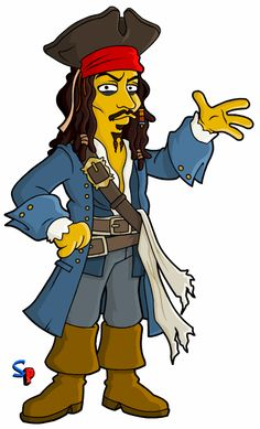 The Simpsons│ Los Simpson - - - - - - Simpsons Drawings, Simpsons Art, The Simpsons Marge, Disney Drawings, Captian Jack Sparrow, Captain Jack, Disney Love, Disney Art, Simpsons Characters