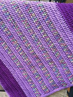Ravelry: Project Gallery for Vintage Vertical Stripe Crocheted Blanket pattern by Bella Dia