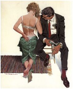 Robert McGinnis - illustrator, produced some iconic movie posters & book covers in 50s & 60s