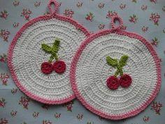 Cherries on potholders