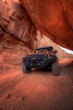 ♂ orange jeep under orange rock tonemapped by NFRs2000NYC #ecogentleman #automotive #cars #transportation