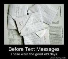 Before Text Messages