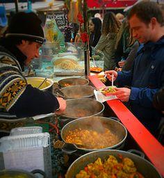 Camden Market Street food, January 2015