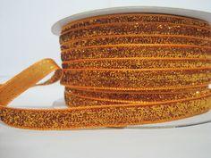 5 Yards Orange Metallic Glitter Ribbon Glitter yarn, Metallic ribbon, Glitter yarn, Orange G Bulk Ribbon, How To Make Headbands, Orange Glitter, Glitter Ribbon, Purse Handles, Fun Projects, Decorative Pillows, Craft Supplies, Art Pieces