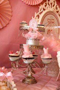 Pink Party aniversário da bailarina via Idéias do partido de Kara  . Kara'sPartyIdeas com # # Ballet PartyIdeas # Suprimentos # Girl # Pink (3)