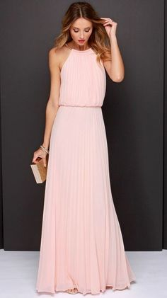 Bariano Melissa Peach Maxi Dress !