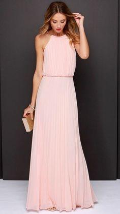 Bariano Melissa Peach Maxi Dress !