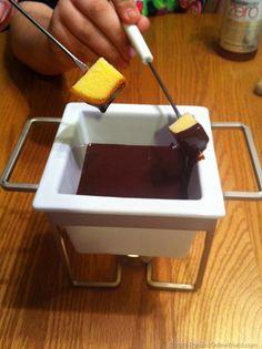 Chocolate Fondue Recipe - super easy recipe! Great for dipping pound cake, fruits, etc.