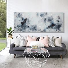 original paisaje marino abstracto pintura arte de la pared