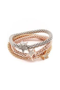 Wish Bracelet in Tri-Tone on Emma Stine Limited