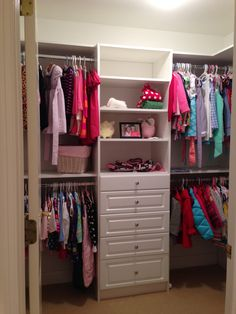 Closet system for upstairs closets