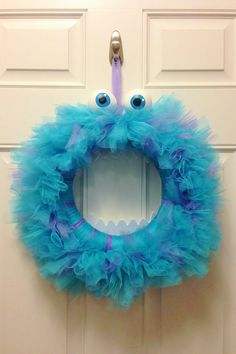 Monsters Inc Sully Wreath by LoveNestBoutique on Etsy