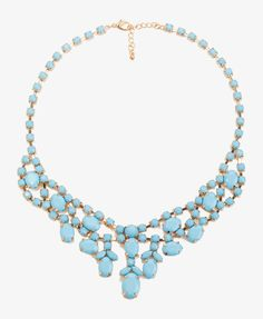 Opaque Rhinestone Necklace | FOREVER21