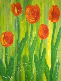 Spring Painting, Spring Art, Painting For Kids, Art For Kids, Square One Art, 4th Grade Art, Oil Pastel Drawings, Watercolor Projects, Spring Crafts For Kids