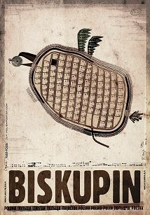 Biskupin, plakat z serii Polska, Ryszard Kaja