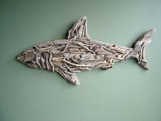 Natural Driftwood Shark  Reserved for 'Charmed' by TidalCreations, $90.00