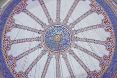 """Inside the """"Blue Mosque"""" in Istanbul"""