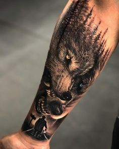 Sleeve tattoos for men who cover wrists - # sleeve tattoos . # tattoos # all - Wölfe tattoo - Tattoo Wolf Tattoo Forearm, Forarm Tattoos, Cool Forearm Tattoos, Cool Tattoos For Guys, Badass Tattoos, Tattoo Wolf, Tattoo For Man, Wrist Tattoos For Men, Cover Up Tattoos For Men