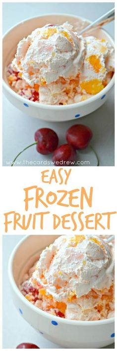 Want a dessert like grandma used to make? This Easy Frozen Fruit Dessert will definitely bring you back and is the perfect Summer Dessert Recipe!