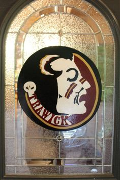 Hey, I found this really awesome Etsy listing at https://www.etsy.com/listing/156853141/fsu-head-door-hanger