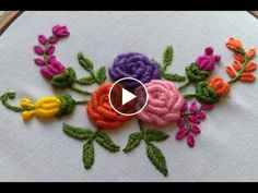 Hand Embroidery Brazilian Embroidery Bullion Knot Rose Embroidery