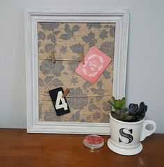 This message board is perfect for displaying pictures of your friends, reminders to yourself or even leaving sweet notes to your family. TheCottonwoodHouse shop on Etsy.