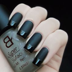 Matte with shine tips
