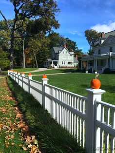 Take a walk through this neighborhood of beautiful curb appeal fall homes. Historic colonials, Tudors, Victorians & more with fall foliage, pumpkins & more kellyelko.com