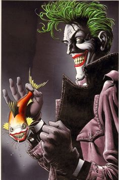 The Joker by Brian Bollard - Cover to The Greatest Joker Stories Ever Told (a book that lives up to most of it's title for a change)