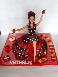 Barbie Flamenco cake
