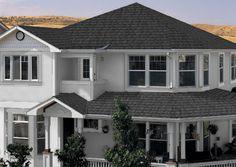 Dark Roof Tan Siding Certainteed Landmark Charcoal Black