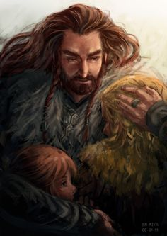 so cute <3 i love these Thorin and young Fili and Kili art pieces :)