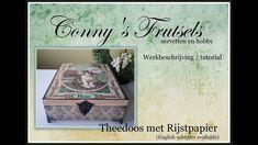 Theedoos met rijstpapier / Decoupage tutorial Mixed Media, Decorative Boxes, Youtube, Blog, Tutorials, Instagram, Mixed Media Art, Teaching